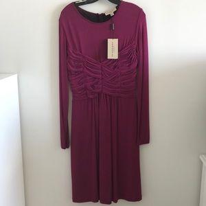 Burberry Magenta Long Sleeved Dress